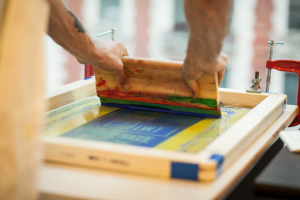hand screen printing